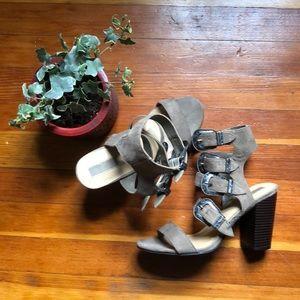 Forever 21 suede belted high heels